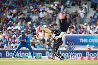 Kane Williamson (New Zealand) chips into the mid wicket region during India vs New Zealand, ICC World Cup Warm-Up Match Cricket at the Kia Oval on 25th May 2019