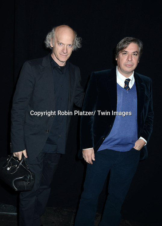 Timothy Greenfield- Sanders and George Condo attends the 2013 Whitney Gala & Studio party honoring artist Ed Ruscha on October 23, 2013 at Skylight at Moynihan Station in New York City.