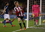 Mark Duffy of Sheffield United celebrates after scoring during the English Football League One match at Bramall Lane, Sheffield. Picture date: December 10th, 2016. Pic Jamie Tyerman/Sportimage