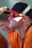 San Francisco Giants infielder Hunter Cole (23) during an Instructional League game against the Oakland Athletics on October 13, 2014 at Giants Baseball Complex in Scottsdale, Arizona.  (Mike Janes/Four Seam Images)