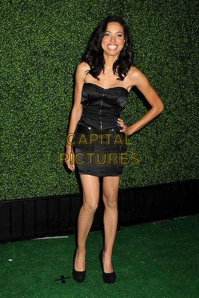 JURNEE SMOLLETT.CBS Summer Press Tour Party 2010 held at The Tent, Beverly Hills, California, USA..July 28th, 2010.full length dress shoes black strapless hand on hip smiling .CAP/ADM/BP.©Byron Purvis/AdMedia/Capital Pictures.
