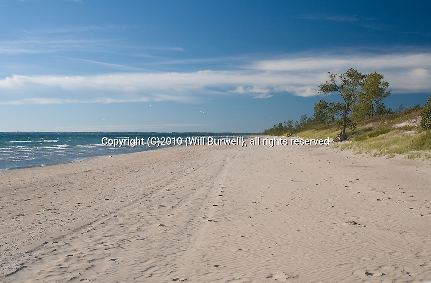 Beach at Sandbanks provincial park Ontario Canada
