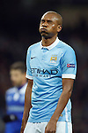 Fernandinho of Manchester City dejected during the UEFA Champions League match at the Etihad Stadium. Photo credit should read: Philip Oldham/Sportimage