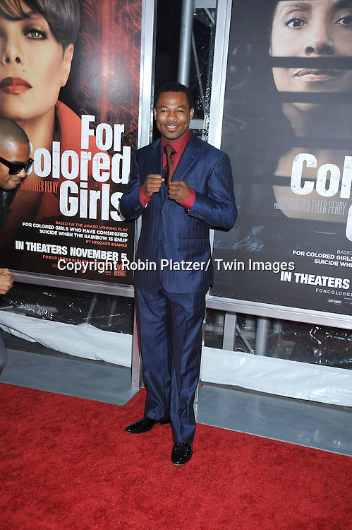 """Sugar Shane Mosley attending The New York Special Screening.of """"For Colored Girls"""" at The Ziegfeld Theatre on October 25, 2010 in New York City"""