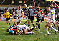 Harlequins v Newcastle Falcons. Aviva Premiership Rugby,  Twickenham Stoop. London. England April 2,