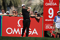 Stephen Gallacher (SCO) tees off on the 9th tee during Sunday's Final Round of the 2012 Omega Dubai Desert Classic at Emirates Golf Club Majlis Course, Dubai, United Arab Emirates, 12th February 2012(Photo Eoin Clarke/www.golffile.ie)