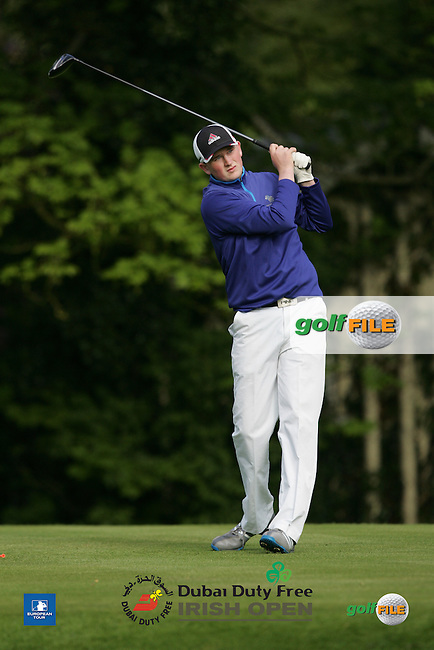 Sean Kestell during Wednesday's Pro-Am ahead of the 2016 Dubai Duty Free Irish Open Hosted by The Rory Foundation which is played at the K Club Golf Resort, Straffan, Co. Kildare, Ireland. 18/05/2016. Picture Golffile | TJ Caffrey.<br /> <br /> All photo usage must display a mandatory copyright credit as: &copy; Golffile | TJ Caffrey.
