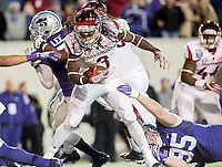 NWA Democrat-Gazette/JASON IVESTER <br /> Arkansas vs Kansas St, Liberty Bowl<br /> Arkansas running back Alex Collins (3) works his way to the end zone during the fourth quarter on Saturday, Jan. 2, 2016, at the Liberty Bowl in Memphis, Tenn.
