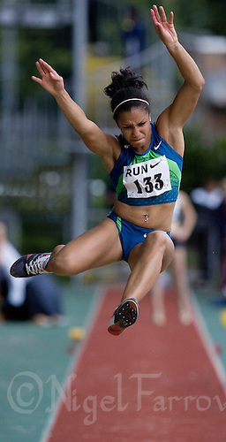 17 JUL 2008 - LOUGHBOROUGH, UK - Amy Harris - Long Jump -  Loughborough European Athletics Permit Meeting. (PHOTO (C) NIGEL FARROW)