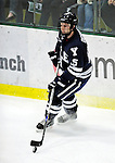 30 November 2009: Yale University Bulldogs' defenseman Tom Dignard, a Senior from Reading, MA, in action against the University of Vermont Catamounts at Gutterson Fieldhouse in Burlington, Vermont. The Bulldogs fell to the Catamounts 1-0 in a close rematch of last season's first round of the NCAA post-season playoff Tournament. Mandatory Credit: Ed Wolfstein Photo