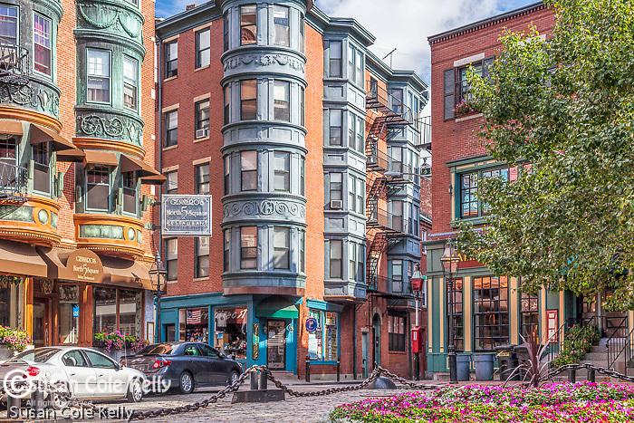 North Square restaurants in Boston's Italian North End neighborhood, Boston, MA, USA