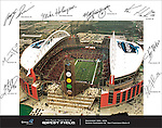 Qwest Field Poster of 2004 Opening Day Game of Seattle Seahawks vs San Francisco 49ers.<br /> Client Cossette Post Ad Agency