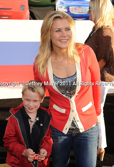 "HOLLYWOOD, CA -JUNE 18: Alison Sweeney attends the ""Cars 2"" Los Angeles Premiere at the El Capitan Theatre on June 18, 2011 in Hollywood, California."