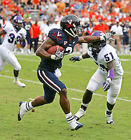 Virginia lost to TCU 30-14 at Scott Stadium September 12, 2009 in Charlottesville, VA. Photo/Andrew Shurtleff