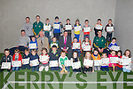 CERTIFICATES: Children from Hurling clubs North Kerry who were winner in the North Kerry schools community games in Art in association with the credit union and the children were presented with their certificates were members of Ballyheigue Hurling Club and the Kerry Hurling team, on Tuesday evening at the Ballyheigue Training & Meeting centre,........