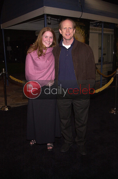 Ron Howard and daughter Paige