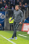 08.09.2017, Volksparkstadion, Hamburg, GER, 1.FBL, Hamburger SV vs RB Leipzig<br /> <br /> im Bild<br /> Ralph Hasenh&uuml;ttl / Hasenhuettl (Trainer RB Leipzig #Trainer Headcoach) im Moment des Abpfiff, bejubelt Sieg, <br /> <br /> Foto &copy; nordphoto / Ewert