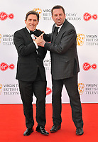 Rob Brydon and Lee Mack at the Virgin TV British Academy (BAFTA) Television Awards 2018, Royal Festival Hall, Belvedere Road, London, England, UK, on Sunday 13 May 2018.<br /> CAP/CAN<br /> &copy;CAN/Capital Pictures