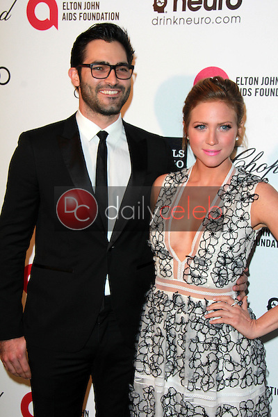 Tyler Hoechlin, Brittany Snow<br /> at the 23rd Annual Elton John Academy Awards Viewing Party, City of West Hollywood Park, West Hollywood, CA 02-22-15<br /> David Edwards/DailyCeleb.com 818-249-4998