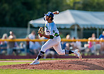 20 August 2017: Vermont Lake Monsters pitcher Oscar Tovar on the mound against the Connecticut Tigers at Centennial Field in Burlington, Vermont. The Lake Monsters rallied to edge out the Tigers 6-5 in 13 innings of NY Penn League action.  Mandatory Credit: Ed Wolfstein Photo *** RAW (NEF) Image File Available ***