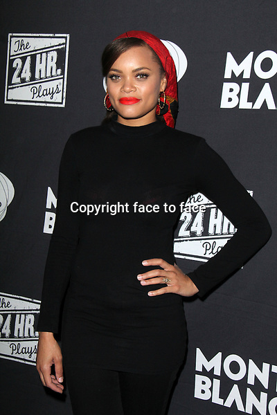 SANTA MONICA, CA - June 20: Andra Day at The 24 Hour Plays Los Angeles After-Party, Shore Hotel, Santa Monica, June 20, 2014. Credit: Janice Ogata/MediaPunch<br />