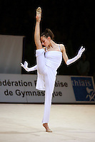 Romina Laurito of Italy balances with expression during gala at 2006 Thiais Grand Prix in Paris, France on March 26, 2006.  (Photo by Tom Theobald)