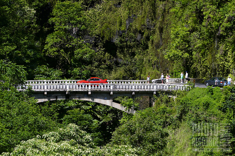 Hairpin turns, waterfalls, and breathtaking scenery await drivers along the famous Road To Hana, Maui