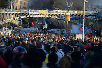 Protesters in Maidan square.  Kiev, Ukraine