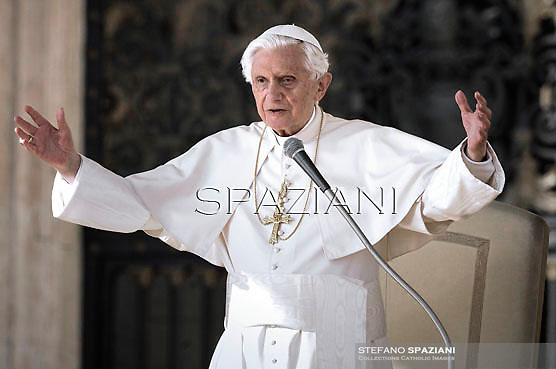 Pope Benedict XVI during his weekly general audience in St. Peter square at the Vatican, Wednesday. 24 October, 2012