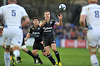 George Ford of Bath Rugby receives the ball. European Rugby Champions Cup match, between Bath Rugby and Leinster Rugby on November 21, 2015 at the Recreation Ground in Bath, England. Photo by: Patrick Khachfe / Onside Images