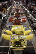 October, 1980. Nagoya, Japan. The assembly line at the Toyota factory in Nagoya.