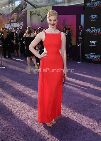 "HOLLYWOOD, CA - April 19: Deborah Ann Woll, At Premiere Of Disney And Marvel's ""Guardians Of The Galaxy Vol. 2"" At The Dolby Theatre  In California on April 19, 2017. Credit: FS/MediaPunch"