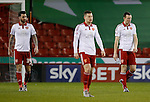 Dejected David Edgar of Sheffield Utd and Neill Collins of Sheffield Utd after conceeding - English League One - Sheffield Utd vs Burton Albion - Bramall Lane Stadium - Sheffield - England - 1st March 2016 - Pic Simon Bellis/Sportimage