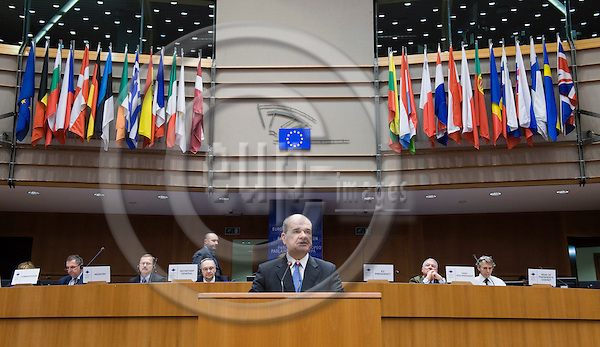 Brussels-Belgium - February 10, 2010 -- Manuel CHAVES GONZÁLEZ (Gonzalez), third Vice President of the Government of Spain and Minister for Territorial Policy, during a speech at the plenary session of the Committee of the Regions held in the hemicycle of the EP -- Photo: Horst Wagner / eup-images