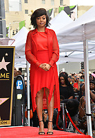 LOS ANGELES, CA. January 28, 2019: Taraji P. Henson  at the Hollywood Walk of Fame Star Ceremony honoring Taraji P. Henson.<br /> Pictures: Paul Smith/Featureflash