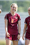 02 October 2011: Virginia Tech's Kelsey Loupee. The Duke University Blue Devils defeated the Virginia Tech Hokies 1-0 at Koskinen Stadium in Durham, North Carolina in an NCAA Division I Women's Soccer game.