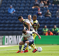 Preston North End's Sean Maguire and Southampton's Wesley Hoedt<br /> <br /> Photographer Stephen White/CameraSport<br /> <br /> Football Pre-Season Friendly - Preston North End v Southampton - Saturday July 20th 2019 - Deepdale Stadium - Preston<br /> <br /> World Copyright © 2019 CameraSport. All rights reserved. 43 Linden Ave. Countesthorpe. Leicester. England. LE8 5PG - Tel: +44 (0) 116 277 4147 - admin@camerasport.com - www.camerasport.com