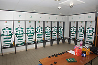 The changing room prior to the 2019/20 Pre Season Friendly match between Ealing Trailfinders and Bishop's Stortford at Castle Bar , West Ealing , England  on 24 August 2019. Photo by Alan  Stanford / PRiME Media images