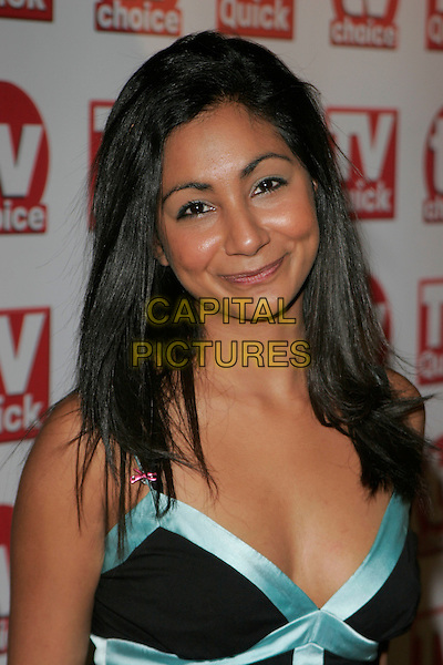 BABITA POHOOMULL.Inside Arrivals at the TV Quick & TV Choice Awards,.The Dorchester Hotel, London, England, .September 3rd 2007..portrait headshot.CAP/AH.©Adam Houghton/Capital Pictures.