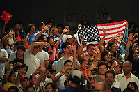 Aug. 9, 2008; Beijing, CHINA; Spectators in the crowd during the womens fencing individual sabre final at the Fencing Hall in the 2008 Beijing Olympic Games. Mandatory Credit: Mark J. Rebilas-