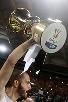 Football Soccer - Juventus - Lazio - Italian Cup Final - Olympic Stadium, Rome, Italy, May17,2017.<br /> Juventus' Leonardo Bonucci celebrates with the trophy after winning the Italian Cup Final match at Rome's Olympic stadium, on May 17,2017.<br /> UPDATE IMAGES PRESS/Isabella Bonotto