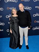 "LOS ANGELES, CA: 18, 2020: Dan Scanlon & Michelle Scanlon at the world premiere of ""Onward"" at the El Capitan Theatre.<br /> Picture: Paul Smith/Featureflash"