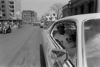 UNDATED  FILE PHOTO - Montreal's Expos<br />  parade on Sherbrooke street, in the seventies<br /> <br /> Photo : Alain Renaud<br />  - Agence Quebec Presse