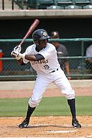 Charleston Riverdogs infielder Anderson Feliz #10 at bat during a game against the Delmarva Shorebirds at Joseph P. Riley Ballpark in Charleston, South Carolina on July 10, 2011. Charleston defeated Delmarva 2-0.   Robert Gurganus/Four Seam Images