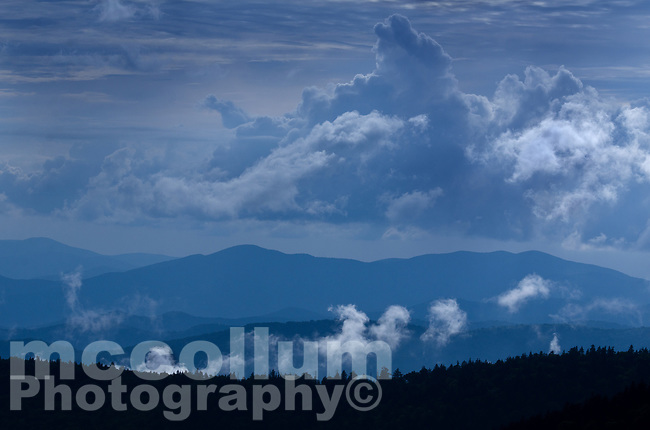 Michael McCollum<br /> 8/1/17<br /> Clearing Storm Blue Ridge Mountains looking South from Clingmans Dome (6,643 feet) in the Great Smoky Mountains National Park in North Carolina