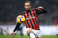 Gonzalo Higuain in action during the Serie A 2018/2019 football match between AC Milan and SPAL at stadio Giuseppe Meazza in San Siro, Milano, December 29, 2018 <br /> Foto Image Sport / Insidefoto