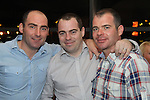 Mark, Colin and Dominic Taaffe in Bru for Colin's 30th..Picture: Shane Maguire / www.newsfile.ie.