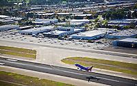 Aerial over Orange County John Wayne Airport