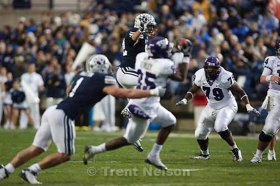 jeremy kerley.BYU vs. TCU college football Saturday, October 24 2009 in Provo.