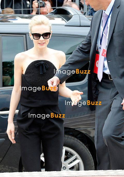 CPE/May 15, 2013-Cannes (FR)-Actress Carey Mulligan arrives at Palais Des Festivals for 'The Great Gatsby' photocall.
